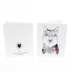 Greeting card / Wolf