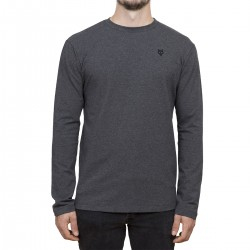 T-shirt Manches longues Minimaliste - charcoal / broderie noire