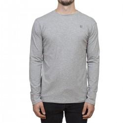 T-shirt Manches longues Minimaliste - gris / broderie grise
