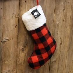 CHRISTMAS SOCK - RED PLAID (3)