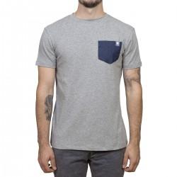 T-shirt Minimaliste Gris / poche de jeans