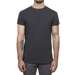 T-shirt Minimaliste charcoal / manches roulées