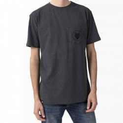 T-shirt- Charcoal / Wolf pocket