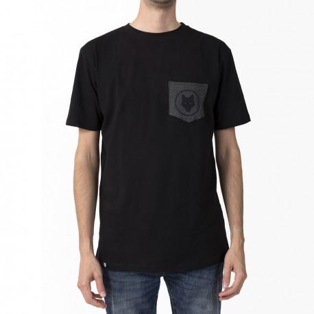 T-shirt Noir / poche de loup