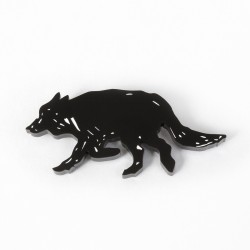 Wolf Brooch 2