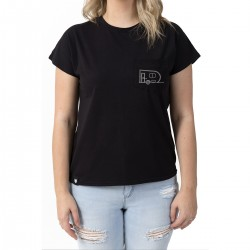 T-shirt Camping Noir - Roulotte