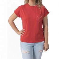 Camping T-shirt Marshmallows - Coral