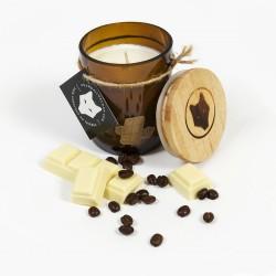 Bougie de soja / Chocolat blanc et café
