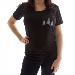 Women T-shirt - tree pocket