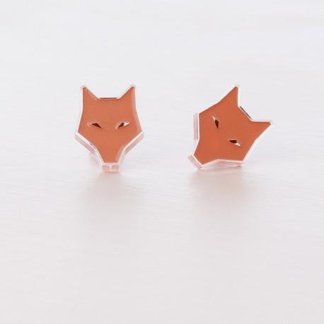 Earrings - Coral Wolf
