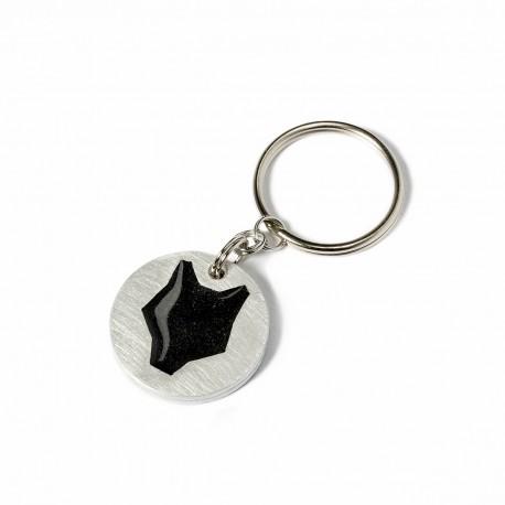 Aluminium keychain / black wolf