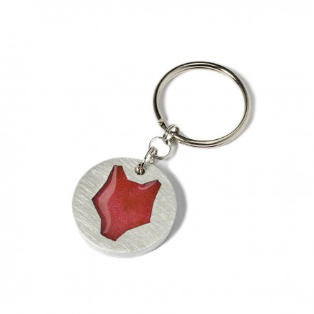 Aluminium keychain / coral wolf