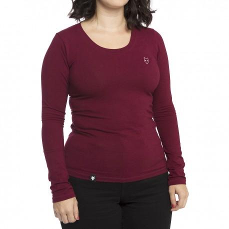 Women's long sleeve t-shirt - burgundy