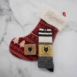 CHRISTMAS STOCKING - WOLF