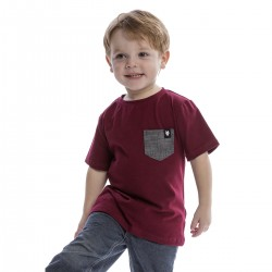 Burgundy t-shirt - kids