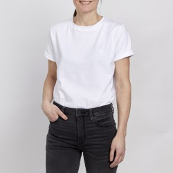 Unisex T-shirt - White - White embroidery