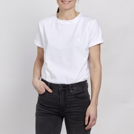 Unisex T-shirt - White - White embroidery