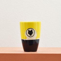 Ceramic glass - Yellow & Black