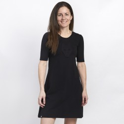 Black dress -  3/4 sleeves