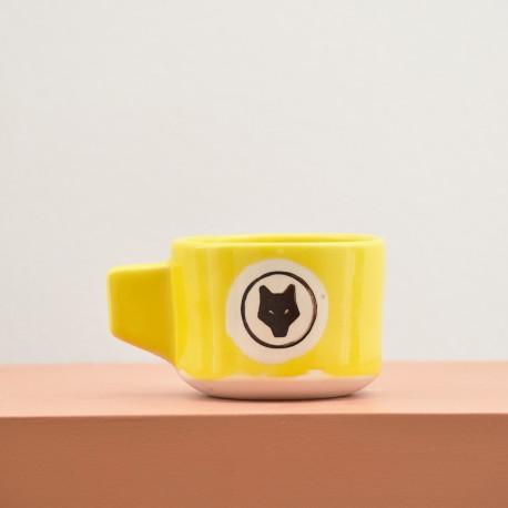 Yellow ceramic mug