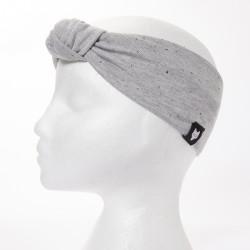 Speckled grey knot headband