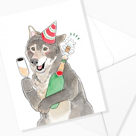 Greeting card / Sparkling wine