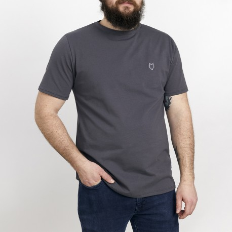 Gray Unisex T-shirt / White embroidery