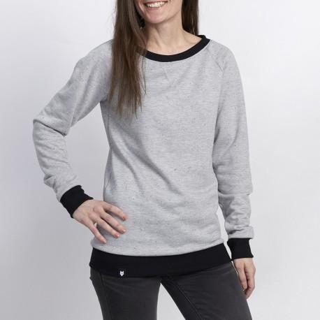 WOMEN SWEATER - Speckled gray