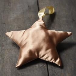 Étoile satinée dorée