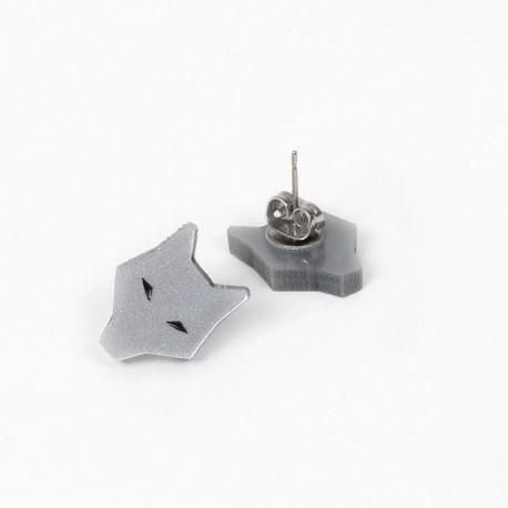 Earrings - Gray Wolf