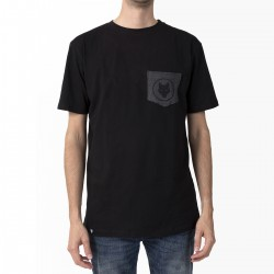 T-shirt - Black / Wolf pocket